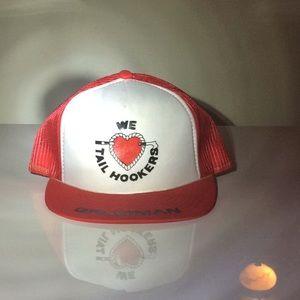 Rare Vintage 80s Grumman Trucker Cap Mesh Hat